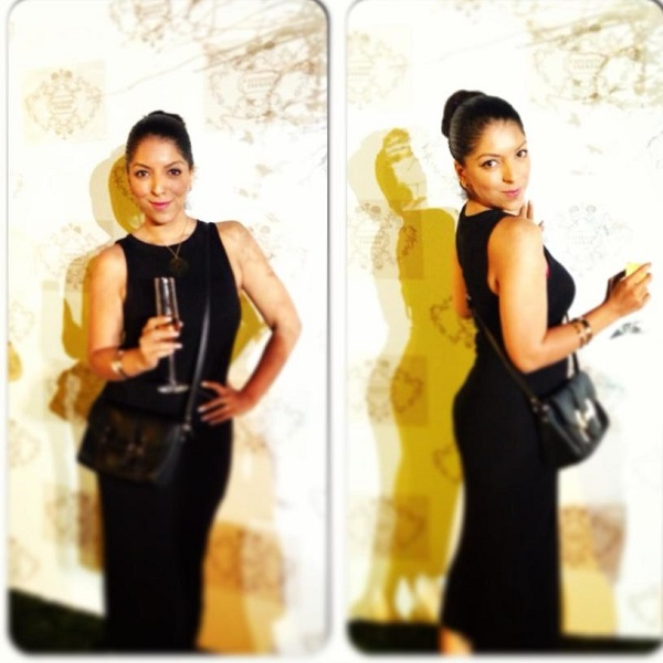 Above: Me at the exquisite launch event, with my diamond mocktail ;)